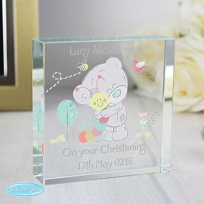 Me to You Personalised Large Crystal Token For Babys Memento - Tiny Tatty Teddy