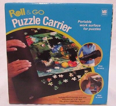 "MILTON BRADLEY PUZZLES ROLL & GO INFLATABLE PUZZLE CARRIER 34"" x 48"" NEW IN BOX!"