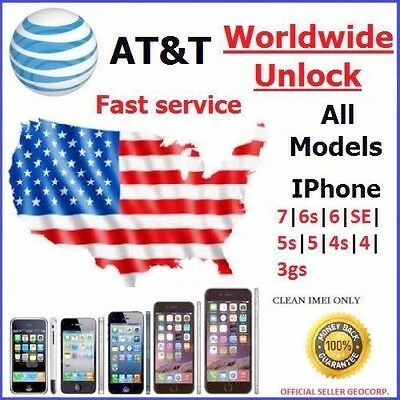 AT&T Factory Unlock code service USA for iPhone 4 4S 5 5C 5S 6 6+ 6s fast
