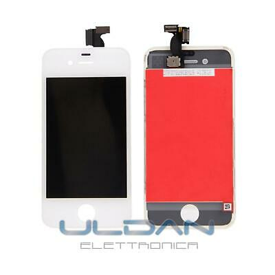Touch Screen + Lcd Display Retina Frame Per Apple Iphone 4S Bianco Vetro Schermo