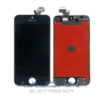 Touch Screen + Lcd Display + Frame Per Apple Iphone 5 Vetro Schermo Nero