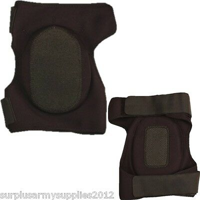 Neoprene Knee Pads Protection Green Black Tactical Airsoft Paintballing Padding