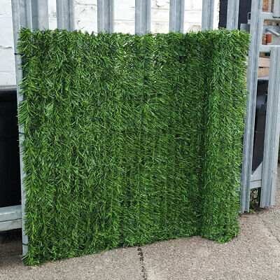 EVERGREEN Artificial Conifer Hedge Plastic Fence Privacy Garden Screening 2 x 3m