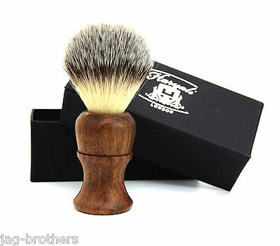 Synthetic Hair Badger Look Shaving Brush in Wooden Handle