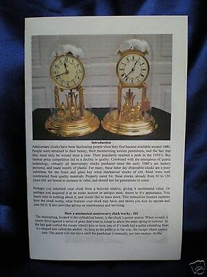 Key Wind 400 Day Anniversary Clock Owners Manual - Operation And Care