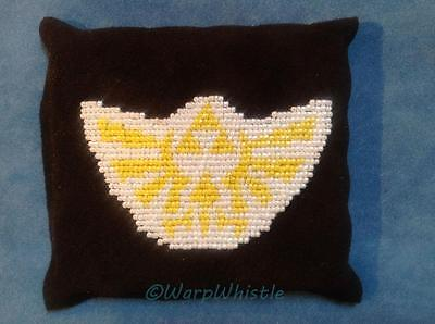 Hand Stitched Hylian Crest Beadwork Patch on Leather