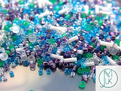 10g Opaque-Lustered Pale Blue TOHO Seed Beads Japanese 15//0-124