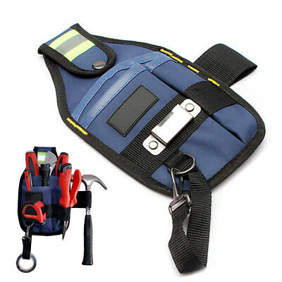 3 Pocket Professional Electrician Clip On Tool Belt Pouch w/ Tape Buckle New