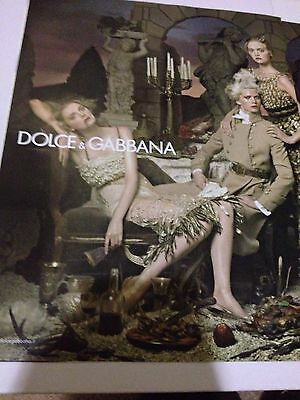 DOLCE & GABBANA 2006 Original VINTAGE Magazine Ad Double Page - Fashion Couture