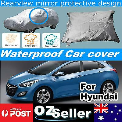 Waterproof Car Cover Anti UV Rain Dust Snow Resistant Protection For Hyundai i30