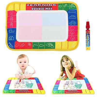 Water Drawing Painting Doodle Aquadoodle Mat Aquadraw Board Pen Kids Toy