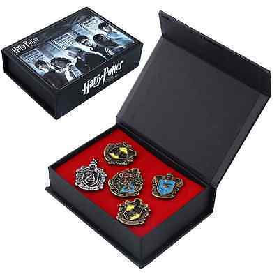 5PCS Badge Hogwarts House Harry Potter School Brooch Pin Gift With Box