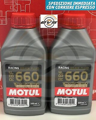 Olio Motul RBF 660 Factory Line DOT 4 Racing per Freni e Frizioni - 2 X 500 ML