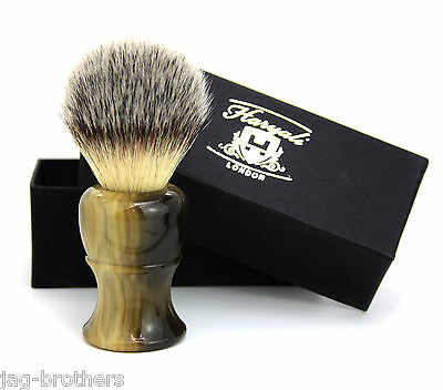 Synthetic Hair shaving Brush Artificial Horn Handle Classical box Presant