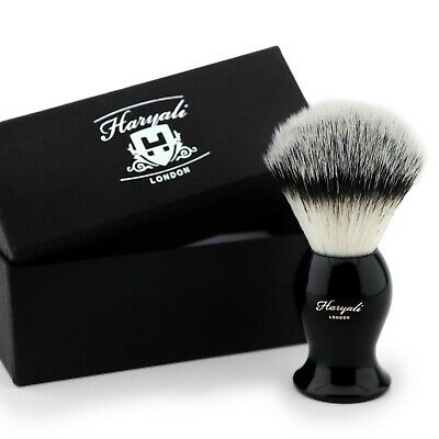Synthetic Hair Shaving Brush with Black colour Handle with Classical Box Presant