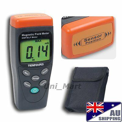 AU 30Hz~300Hz Gauss Meter Gaussmeter EMF ELF Field Tester Magnetic Taiwan Made