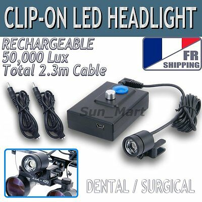 FR 50000Lux Lumière Dentaire Chirurgical Phares à LED Loupes Lampe Tête Licht