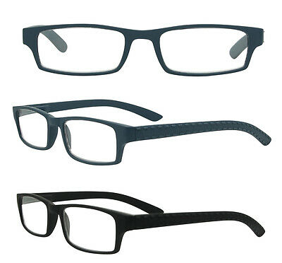 Strong Black Reading Glasses Retro Mens Womens Ladies +1 +1.5 +2.0 +2.5 +3.0