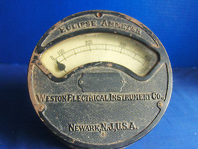 Vtg Weston Eclipse Ammeter Model 159 Patented 1898 Steampunk Industrial Age