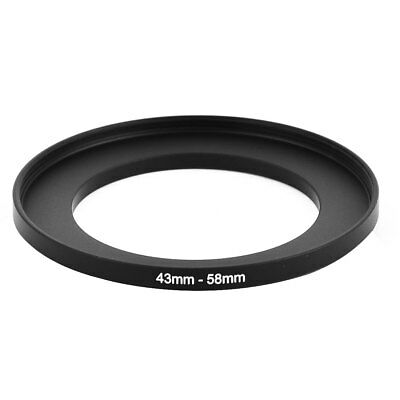 Camera Lens Filter Step Up Ring 43mm-58mm Adapter Black New