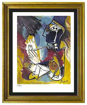 """Pablo Picasso Signed/Hand-Numberd Ltd Ed """"Man with Pipe""""  Litho Print (unframed)"""
