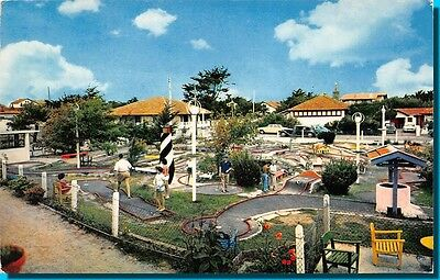 Postcard - Mimizan beach the golf miniature