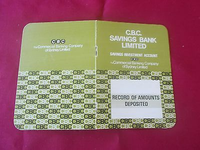 CBC Banking Collectable Deposited Book