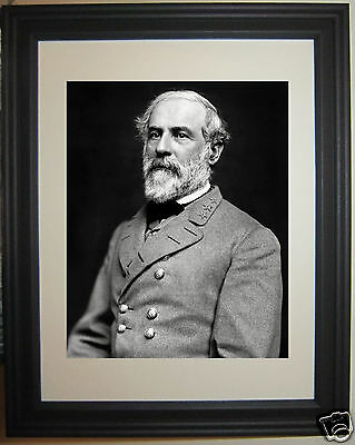 General Robert E. Lee Portrait Civil War Framed Photo Photograph Picture