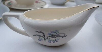 Vintage Knowles USA 51-9 Bluebells Leaf Serving Gravy Boat with gold trim