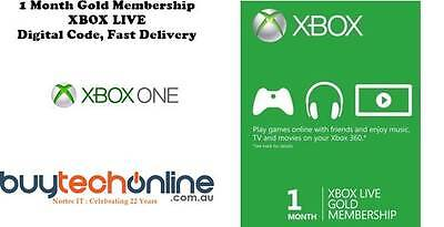XBOX LIVE 1 Month Gold Membership Subscription Code