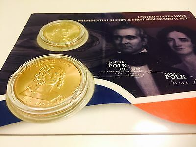 First Spouse Bronze Medal , James K. Polk Presidential coin United States Mint
