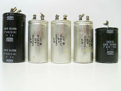Sony TC-730 Set of Motor and Filter 5x Capacitors - Reel to Reel Audio Part