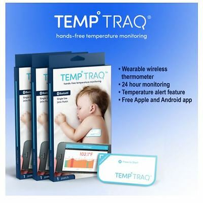 TempTraq Wearable Bluetooth Thermometer 3 Patches Compatible With iOS/Android