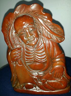 Vintage Big Chinese Shoushan Stone Hand-Carved  longevity God Seal Stamp Set