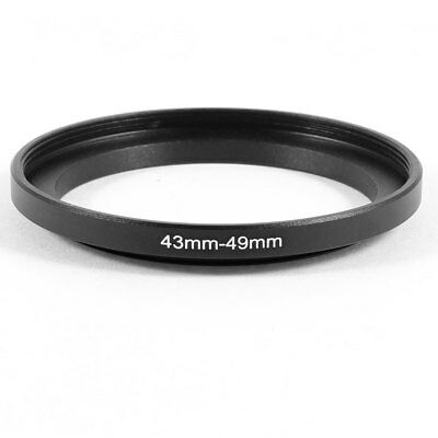 Camera Parts 43mm-49mm Lens Filter Step Down Ring Adapter Black