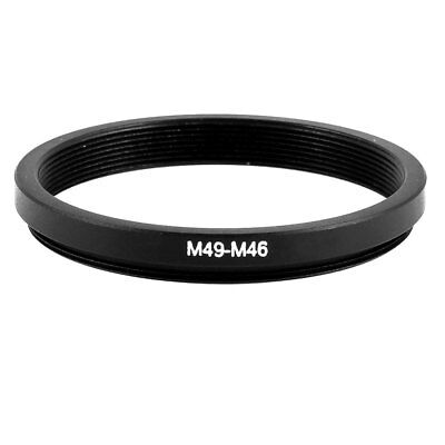 49mm-46mm Solid Black Step Down Ring Adapter for Camera