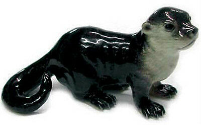 Northern Rose Porcelain  Miniature Otter Baby Standing