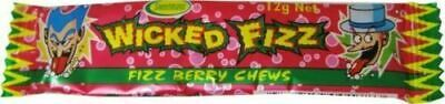Bulk Lot 30 x Wicked Fizz Chews Berry Candy Sweets Kids Lollies Party Favors