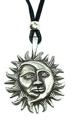 Sun and Moon Pagan / Wiccan Celestial Pendant / Adjustable Necklace    - f4