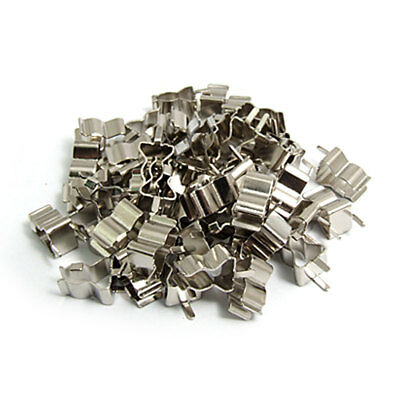 50 Pcs Metal Clip Clamps for 5 x 20mm Glass Fuse Tube