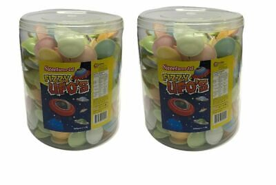 Flying Saucer UFO x 2 Containers 600 Pieces Sour Lollies Candy Sweets Favors