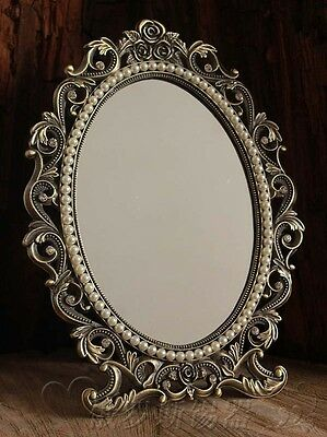 Gorgeous Vintage Antique Style Baroque Decorative Art Deco Vanity Stand Mirror