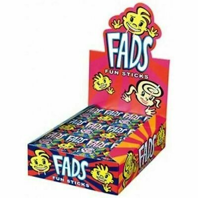 Bulk Lot 48 x Fads Fun Sticks 15g Candy Stick Lolly Buffet Sweets Party Favors