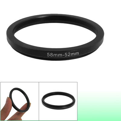 58mm-52mm 58mm to 52mm Black Step Down Ring Adapter for Camera