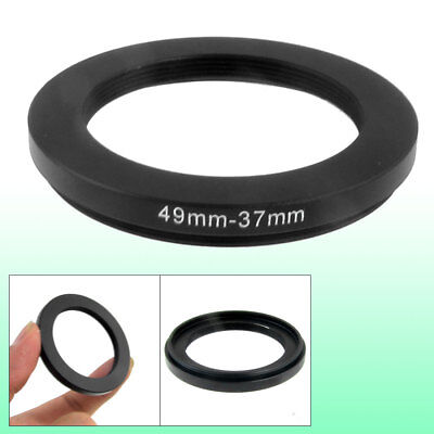 49mm-37mm 49mm to 37mm Black Step Down Ring Adapter for Camera
