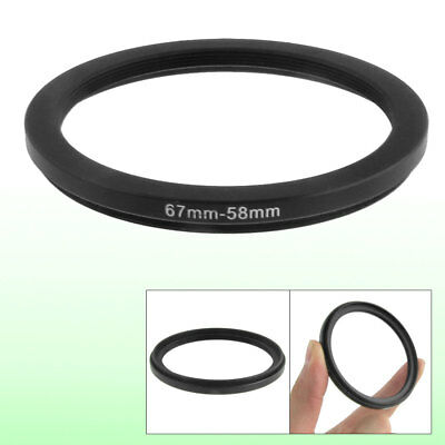 67mm to 58mm 67mm to 58mm Black Step Down Ring Adapter for Camera