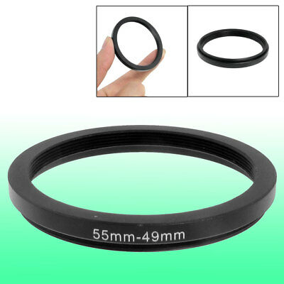 55mm-49mm 55mm to 49mm Black Step Down Ring Adapter for Camera