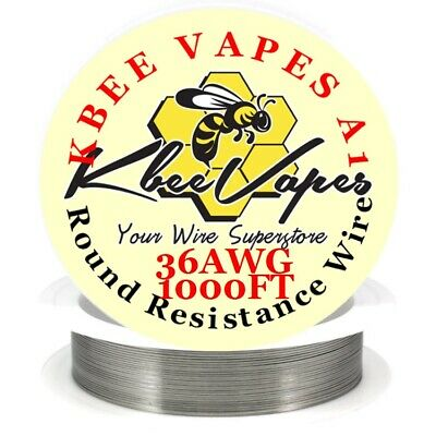 Kbee's A1 - 1000ft Roll 36 Gauge .127mm , 33.4 Ohms/ft Resistance Wire