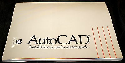 AutoCAD AUTODESK RELEASE 10 INSTALLATION & PERFORMANCE GUIDE 1988 MANUAL BOOK!!