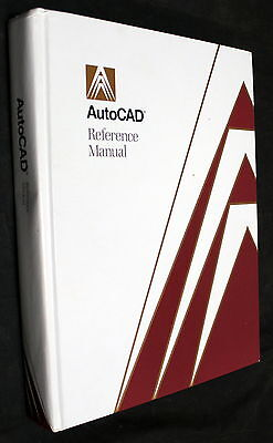 AutoCAD RELEASE 10 REFERENCE MANUAL 1989 TD106-011.2 HARDCOVER BOOK!!